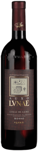 """The Greek word Auxo means """"grow, develop"""", it describes the spirit and work of the Cantine Lunea, always in harmony with Mother Nature. The red wine presents itself with intense ruby red color. The scent of aromas of ripe red fruits, blueberries and blackberries, plums and red mulberries is beguiling and animating. The spicy note, reminiscent of black pepper and liquorice, is subtle in the background and flatters its Mediterranean origin. The wine is silky and soft, lies discreetly on the palate and tongue and leaves a pleasant tannin structure. Food recommendation for the Auxo Colli di Luni DOC Simple Italian cuisine from the country such as lasagna, a 'Pasta al Ragout' or cannelloni in tomato sauce go best with this representative from Liguria. Facts about the construction and expansion of the Auxo Colli di Luni DOC of the Cantine Lunae The 30-year-old Canaiolo, Ciliegiolo & Sangiovese vines, which form the blend for the Auxo Colli di Luni DOC of the Cantine Lunae, stand on skeleton-rich vineyards interspersed with pebbles. They crowd densely with 4000 sticks on a single hectare. After the fully ripe grapes have been harvested in the course of September, they are carefully fermented in stainless steel at a maceration time of about 10 days. Alcoholic fermentation is followed by a 6-month ageing phase in large old oak barrels, which give the wine additional complexity and aging potential as well as finesse and expressiveness. Awards for the Auxo Colli di Luni DOC from Lunae Decanter: Silver Medal 2011 (Vol. 08) Wine Spectator: Cover of Best 100 Values - April 2014, 88 pts. (Vol. 10)"""