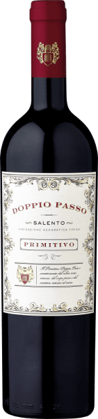 The Doppio Passo Primitivo in the 1.5l magnum from Carlo Botteris a full-bodied varietal Primitivo and a real southern Italian speciality.The Doppio Passo impresses with a dense bouquet of black berries and inviting cocoa notes. Despite the gentle tannins, it shows itself with a grippy structure and depth. The concentrated aromas and fine fruit sweetness are also reflected on the palate. Simply a brilliant Primitivo at an excellent price/enjoyment ratio! Learn more about the Doppio Passo Salento Rosso in the expertise of the normal bottle. Food recommendation for theDoppio Passo Primitivo We recommend the Doppio Passo Primitivo in the magnum bottle for large celebrations, where the table should be properly poured. It is best enjoyed with dark meat and grilled food.