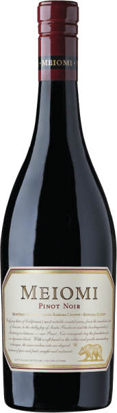 In the glass, the Pinot Noir by Meiomi Wines presents itself in a bright ruby red with purple highlights. The nose reveals strong notes of fresh strawberries and juicy red currant - accompanied by nuances of mocha beans and bourbon vanilla. On the palate, too, the aromas of the nose are presented with other red berries. The fine tannins are accompanied by a soft body and subtle fruit acid. The finale comes with a magnificent length. Vinification of the Meiomi Wines Pinot Noir The grapes come from Monterey County, Santa Barbara County and Sonoma County. After harvesting, the Pinot-Noir grapes are pressed into the wine cellar. This is followed by fermentation in a stainless steel tank. The wood finishing ensures the vanilla and mocha shades. This red wine was aged for a total of 6 months in French oak barrels. Food recommendation for Pinot Noir by Meiomi Wines Enjoy this dry red wine from California with marinated mushrooms with tender pork fillet, duck breast on a vegetable bed or with medallions in pepper-cream sauce.