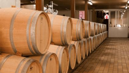 The barrels for the Château du Moulin Rouge