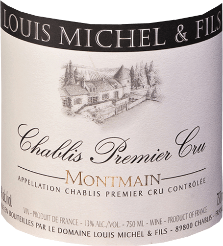 The clear straw yellow shines in the glass and reflects greenish-gold. The Chablis Premier Cru Montmain from Domaine Louis Michel et Fils starts with notes of citrus fruit, followed by aromas of hazelnuts, almonds and a delicate hint of iodine. If the wine has been given time to breathe, it also delights with aromas of white peach, pickled or ripe lemons and hawthorn blossoms. On the palate it presents itself powerful, straightforward and fresh with good tension. It has a clear minerality and lively acidity, is very juicy and its long finish is characterized by fine almond citrus fruits and a beautiful spice. This is an elegant accompaniment, it goes wonderfully with lobster, grilled fish, mussels in cream sauce and pork fillet.