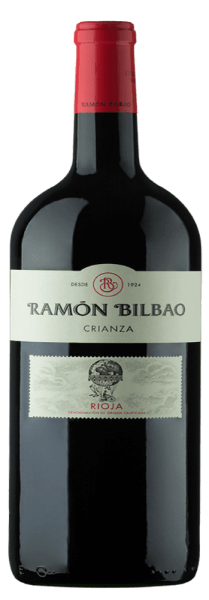 The Rioja Crianza DOCa by Bodegas Ramón Bilbao shines dark ruby red in the glass. Complex aromas unfold on the nose with various varietal fruits, such as blackberries and black cherries. This bouquet is rounded off by the nuances of vanilla, coconut, chocolate and some cinnamon. On the palate, this Spanish red wine is very balanced, with well-integrated acidity, round and velvety. The finale is long and characterized by soft, ripe tannins. An inspiring wine that makes you want more. Vinification of Rioja Crianza DOCa by Bodegas Ramón Bilbao The Rioja Crianza from Bilbao is produced from ripe Tempranillo grapes, the very own Spanish grape variety, from the Rioja Alta wine-growing region. After fermentation, the wine is aged in American barriques for 14 months and refined in the bottle for a further 8 months. Food recommendation for the Rioja Crianza DOCa by Bodegas Ramón Bilbao Enjoy this dry red wine with strong pasta, high-fat fish such as salmon, grilled meat or medium ripe, slightly spicy cheese.