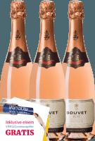 Preview: 3er Vorteils-Weinpaket - Crémant Brut Rosé Excellence - Bouvet Ladubay