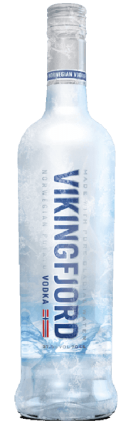 The Vikingfjord Vodka is subtle and soft in smell, showing subtle notes of cereals and citrus fruit. On the palate, this Norwegian vodka is mild, with a short, warm finish. Production of the Vikingfjord Vodka Potatoes form the basis for the Vikingfjord Vodka. The crude alcohol present is distilled six times and a very pure 96% strength alcohol is formed. Only water from the Jostedal glacier is used to reduce drinking strength. This is particularly soft, since it seeps through many soil layers to the source and thus becomes naturally pure. Serving recommendation for the Vikingfjord Vodka Enjoy this vodka pure, at room temperature or on ice, or in long drinks.