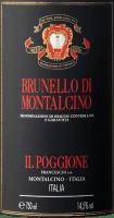 Preview: Brunello di Montalcino DOCG von Tenuta il Poggione Etikett