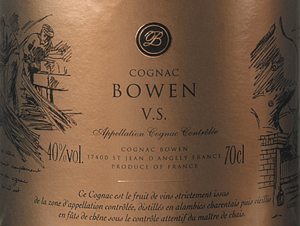 Cognac VS from Cognac Bowen is a seductive, elegant brandy made from Ugni Blanc (80%), Colombard (15%) and Folle Blanche (5%) grapes. In the glass, this cognac shimmers in a dark gold with amber highlights. The aromatic bouquet offers notes of flowers, fruity aromas of pears and plums as well as hints of nuts - the ageing in limousine oak adds delicate shades of vanilla. On the palate, the gentle personality is enveloped by a powerful body with vibrant fruit fullness. The floral aroma of the nose is further accompanied by slightly spicy wood notes. The elegant finale has a beautiful length. Vinification of the Cognac Bowen VS The grapes for this cognac are harvested very early and fermented to a strongacidic white wine. The acid protects against oxidation as cognac is not sulphurized. This base wine is now distilled twice in a copper burner using the traditional Charentaiser distillation process. Wooden barrels made of limousine oak are selected for maturation. This cognac matures for at least 2 - 3 years. Serving recommendation for the Bowen Cognac VS Enjoy this French brandy simply solo - whether pure or on ice - or serve this cognac as a digestif with coffee.