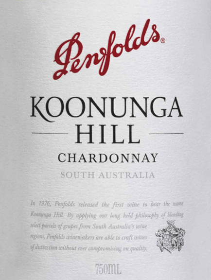 Koonunga Hill Chardonnay from Penfolds is a pure, delicately creamy white wine from the South Australian wine region. In the glass, this wine shines in a bright straw yellow with glittering reflections. The fruity bouquet is characterized by juicy, fresh nectarines. Fine oak nuances and wonderful hints of summer blossom honey are added. With juicy fruit of peach and melon, this Australian white wine convinces the palate. Delicately creamy vanilla notes combine with notes of malt to create a wonderfully spicy-fruity aroma. The body has depth and complexity, which is perfectly accompanied by a fine acidity and the long, fresh reverberation. Vinification of the Penfold Chardonnay Koonunga Hills The Chardonnay grapes for this white wine grow mainly in Barossa Valley and Adelaide Hills. After harvesting the berries, they are fermented in French oak barrels in the Penfolds winery. After the fermentation process is complete, this wine remains in the wooden barrels and matures on the fine yeasts. Food recommendation for Koonunga Hills Penfolds Chardonnay Enjoy this dry white wine from Australia with light appetizers, crisp salads with turkey breast or with poached fish. But also as an inviting aperitif, this wine is a good choice.