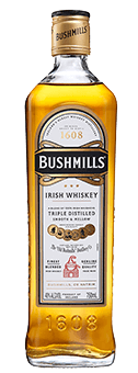 The Bushmills Original Irish Whiskey by Old Bushmills Distillery is the classic at Old Bushmills. Shiny amber in the glass, this Irish whiskey displays a subtle bouquet with spicy notes, hints of real vanilla and cream brulée on the nose. On the palate it reveals itself warm and elegant, hints of honey sweetness and spice notes are surrounded by the silky and full-bodied texture. The reverberation is surprisingly fresh and spicy. Production and maturation of the Bushmills Original Irish Whiskey from Old Bushmills The Bushmills Original is made from Grain Whiskey. It matures for at least five years in American white oak barrels, which were previously used as bourbon barrels, and is then blended with Irish Single Malt. All malts from Bushmills are distilled three times. The mash contains, according to the centuries-old tradition, unmalted barley; drying over peat smoke is completely dispensed with. This gives these Irish whiskeys from the traditional distillery Old Bushmills their typical fruity, soft character, without smoky notes in the scent and taste. Serving recommendation for the Bushmills Original Irish Whiskey from Old Bushmills Distillery Connoisseurs recommend enjoying the Bushmills Original Irish Wishkeyat room temperature, because it then unfolds its fruity-spicy scents and flavors best. Pure or on-the-rocks on ice, or in a mixed drink. Awards San Francisco World Spirits Competition 2013 GoldIWSC International Wine & Spirit Competition 2014 - outstanding SilverThe Irish Whiskey Masters (The Spirit Business) - 2014 Silver, 2013 Gold