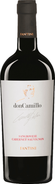 The Don Camillo Sangiovese by Farnese Vini from the Italian wine region IGT Terre di Chieti in Abruzzo is a full-bodied, elegant and uncomplicated red wine cuvée. In the glass, this wine shines in a rich ruby red with cherry-red shimmer. The nose is enchanted by a fruity bouquet with aromas of freshly cooked jam, juicy cherries and spicy notes of liquorice, vanilla and the finest nuances of flowers. On the palate, this Italian red wine has a full-bodied body that is wonderfully enveloped by the good tannin structure. The finale comes with a good length and a spicy touch. Vinification of the Farnese Vini Don Camillo This cuvée is vinified 90% from Sangiovese and 10% from Cabernet Sauvignon as a modern interpretation of a Super Tuscan. After harvesting, the maceration and fermentation process took place over a period of 20 days. The malolactic fermentation was carried out in French oak barrels, in which this red wine was aged for 6 months. Food recommendation for the Farnese Vini Don Camillo Enjoy this dry red wine from Italy with salami, with hearty appetizers or meat and cheese.