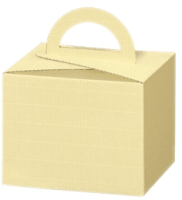 Carrying box cream with handle