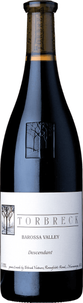 """The Descendant by Torbreck is an outstanding red wine cuvée made from Shiraz (92%) and Viognier (8%). Translated, the name means """"descendant"""". Because this red wine is the legacy of the Torbreck RunRig red wine - the vineyard is planted with cuttings of the old RunRig and this wine is aged in barrels that were previously used for the RunRig. In the glass, the Torbreck Descendant presents itself in a deep dark ruby red with violet reflections. The bouquet unfolds intense aromas of ripe blackberries, accompanied by roasted nuances. This is accompanied by floral notes of violet and lavender. On the palate, this Australian red wine presents itself with an elegant and strong character, which is borne by berry aromas. The silky, ripe texture is accompanied by a balanced tanning structure in the long-lasting reverberation. Vinification of Torbreck The Descendant The vines for this red wine are located on the vineyard inMarananga. After harvesting the Shiraz and Viognier grapes, they are selected and destemmed in the wine cellar. Both grape varieties are then fermented together in a stainless steel tank. The subsequent ageing takes place for a total of 20 months in French oak barriques. Food recommendation for Descendant Shiraz Viognier von Torbreck This dry red wine from Australia is the perfect accompaniment to spicy goulash with Bohemian dumplings and blueberry, lamb from the oven with beans or veal liver with steamed onions. Awards for The Descendant by Torbreck Robert M. Parker - The Wine Advocate: 93 points for 2015 James Halliday: 97 points for 2015 James Suckling: 95 points for 2015 James Halliday: 96 points for 2006 Stephen Tanzer: 93 points for 2006 Robert M. Parker: 95 points for 2006"""