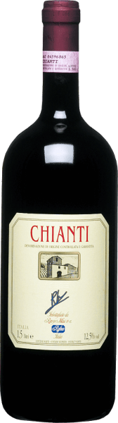 The Chianti Renzo M. DOCG by Renzo Masi presents itself in the glass in a strong cherry red and unfolds its expressive bouquet with the aromas of juicy cherries and currants. These fruit nuances are rounded off by floral hints of violets. This Chianti impresses on the palate with its expressive fruit aroma and velvety tannins, before it ends in a smooth finish. Food recommendation for the Chianti Renzo M. DOCG by Renzo Masi  Enjoy this dry red wine with pasta with tomato sauce, gratin, risotto, dishes with meat or mild cheeses.