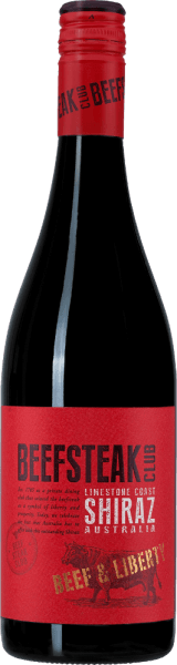 Beef & Liberty Shiraz by Beefsteak Club is a pure red wine from Australia and presented in a dark purple glass. The bouquet reveals expressive aromas of ripe plums and juicy blackcurrants. On the palate, this wine convinces with a fresh, complex, elegant and juicy personality. The spicy-warm notes due to the wood finish are perfectly integrated into the powerful body. The tanning scaffold is wonderfully fine and accompanies you to the long finale. Food recommendation for the Beefsteak Club Shiraz Enjoy this dry red wine for cozy barbecues with fish, meat and vegetables. But this wine is also a treat for Spanish tapas - whether hot or cold - and for various cheeses.