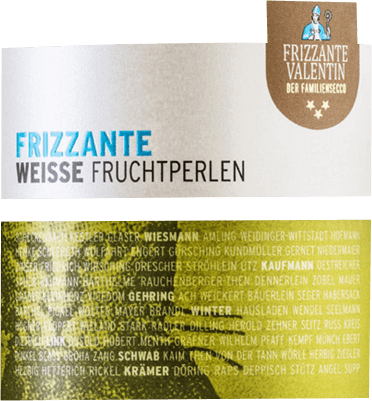 Its fine fruity nose presents some minerality. On the palate, the Frizzante Valentin from the wine cellar Sommerach is fresh and clear with a fine juicy fruit and beautiful minerality, elegant acidity and foamy perlage. A frizzante with a good balance and a certain length.