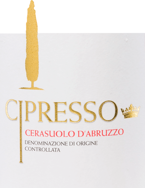 The Cerasuolo d 'Abruzzo Rosé by Cipresso comes in a shimmering cherry red colour with light purple highlights. The characteristic scent is fruity and fresh. Aromas of soft cherries and floral notes fill the nose. This Italian rosé wine is wonderfully fine, harmonious and balanced on the palate. Vinification of Cipresso Rosé Cerasuolo Montepulciano d 'Abruzzo The harvested grapes from the Cipresso winery are first ground and the skins are left on the must for a while. This favours that the aromas and colours are released to the must. The must then undergoes temperature-controlled fermentation in stainless steel tanks, where this wine matures for some time. Food recommendation for the Cerasuolo d 'Abruzzo Cipresso Rosé Enjoy this dry rosé from Italy with soups, pies, pasta, vegetarian pizza and smoked fish.