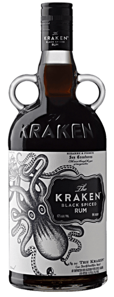 The name of this rum is based on an ancient legend according to which a ship carrying a load of Caribbean rum was sunk by the octopus, a terrible sea monster, and never appeared again.  In the glass, The Kraken Black Spiced appears with a deep, dark color-like the ink of a Kraken. It spreads aromas of strong caramel with a hint of chocolate and a pleasant spice, but without having an alcoholic bite despite its slightly increased drinking strength. Other notes include molasses, liquorice, subtle plum and nuts. The rum from Trinidad and Tobago also smells of cocoa and coffee in the background. The taste of this spiced rum convinces with its sweet spice, espresso and gingerbread. Dark cherries and notes of molasses round off the gentle drinking pleasure. The finish is surprisingly mild, long and not too spicy despite the nuances of pepper. Production of The Kraken Black Spiced Rum After distillation, the rum is stored in bourbon barrels for up to 2 years. After this ripening period, the flavouring is followed by 13 spices, including cinnamon, ginger and cloves. Serving recommendation for The Kraken Black Spiced Rum Enjoy this Caribbean spiced rum pure or with classic rum cocktails, like in a dark and stormy.
