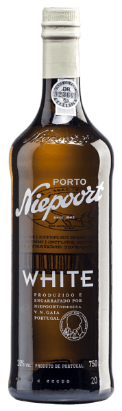 In the glass, Niepoort's White Port is revealed in a beautiful dark gold tone. This port is vinified from Arinto, Códega, Gouveio, Rabigato, Viosinho and other white Portuguese grape varieties.  The nose of this port wine fills with a fresh aroma of nuts and hints of dried fruit. This port nestles half-dry on the palate and reflects the optimal interaction with the brandy, which gives this port wine the outstanding structure. Vinification of Niepoort White Port The different grapes are harvested exclusively by hand. After the white grapes lay on the mash for a certain time, they are gently pressed. This is partly done using the traditional method with the feet. Then brandy is added and the White Port is stored for twelve months in large wooden feeds. Before this port wine is bottled, it matures for at least three more years in smaller, old oak barrels. Food recommendation for Niepoort 's White Port Try this semi-dry port wine as an aperitif with ice-cooled tonic (1/3 port and 2/3 tonic), as an accompaniment to desserts (pastries, cakes, chocolate) or as a digestif.