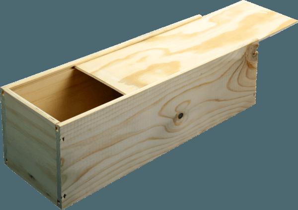 B-STOCK - 1 bottle wine wooden box with sliding lid von VINELLO