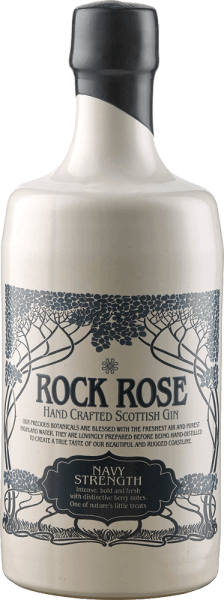 The Rock Rose Navy Strength Gin from Dunnet Bay Distillery is clear in the glass and unfolds aromas of pine lime, birdberry, hawthorn and blueberries. Compared to the Rock Rose Gin, the Navy Strength Gin is slightly earthier. The designation of this high percentage gin as Navy Strength Gin lies in the history of the Royal Navy. The officers enjoyed drinking a good gin during long crossings, but this should not be diluted as for the normal team. That's why the gin had a strength of 114 proof for the officers, i.e. 57% alcohol. Serving recommendation for the Rock Rose Navy Strength Gin from Dunnet Bay Distillery Enjoy the Navy Strength pure or in a classic Gin&Tonic. Dunnet Bay Distillery Recommendation - Rock Rose Gin and Jam Cocktail 5cl Rock Rose Navvy Strict Gin 2 cl lemon juice 1 tsp jam a little egg white Shake all ingredients vigorously with ice and serve the cocktail with a spoon of jam as decoration.