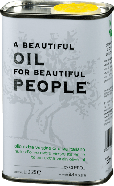 Olio Extra Vergine di Oliva Beautiful Oil for... by Cufrol is a light and fruity olive oil made from cold-pressed Moraiolo olives.  This beautiful olive oil presents itself in a beautiful green with golden shimmer and unfolds fruity, delicate aromas of fresh olives. Its low acidity makes it extremely mild. Recommended use for the Olio Extra Vergine di Oliva Beautiful Oil for... This extra virgin olive oil from Umbria is particularly suitable for the production of fine dishes.