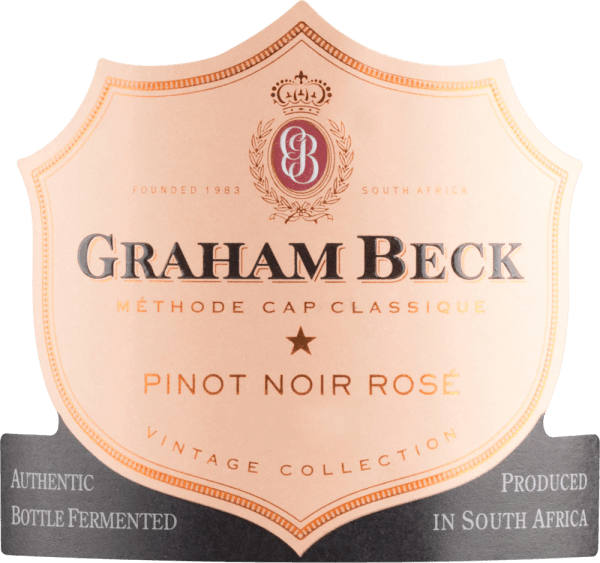 The Brut Rosé Vintage by Graham Beck is presented in a bright salmon red colour. The nose seduces this South African sparkling wine with slightly violent aromas and the noticeably ripe and fresh strawberry aromas of the Pinot Noir grapes. The palate is pampered by the creamy complexity of the Chardonnay grape and by aromas of raspberries combined with fresh sorbet. This sparkling wine is rounded off by a long-lasting finale. Vinification of Graham Beck Brut Rosé Vintage The Pinot Noir and Chardonnay grapes are grown together. After the must has been fermented, this sparkling wine from South Africa is gently filtered and filled into the bottle. After that, this brood Rosé Vintage undergoes a second fermentation according to the traditional method. Food recommendation for Vintage Brut Rosé Graham Beck We recommend this rosé sparkling wine with fried trout with basil and mashed potatoes or as an animating aperitif.
