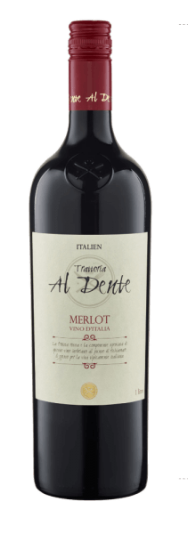 The Merlot of Al Dente appears in the glass in a magnificent red with the intense aromas of dark berries, cherries and cassis. This bouquet is accompanied by spicy herbs. This pure Merlot from Italy is powerful and harmonious on the palate with a good structure. Food recommendation for Al Dente Merlot Enjoy this semi-dry red wine with the classics of Italian cuisine: antipasti, pasta and pizza or with meat dishes of all kinds.