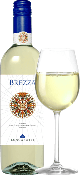 The Brezza Umbria Bianco IGT - Fattoria del Pometo by Lungarotti shines in light straw yellow with delicate, greenish reflections in the glass. In the nose it presents itself youthfully, with fine aromas of juicy fruits, peach, green apple, and elegant floral notes in the background. On the palate, this white wine from Umbria inspires with lively, delicate acidity, of medium structure, full-bodied and fruity, soft and refreshing in the final, an almost sweet note in the long-lasting finish. Vinification of Brezza Umbria Bianco IGT Fattoria del Pometo by Lungarotti This crisp young white wine is vinified from Grechetto, Chardonnay, Pinot Grigio and other white grape varieties grown in the Fattoria del Pometo, one of the Lungarotti family wineries, on sandy, medium, deep soils. The harvesting is done manually, the expansion in stainless steel tanks by cold maceration process. This fresh and easily drinkable white wine is one of the first to invite you to enjoy in autumn, shortly after the harvest and many months before other whites. Food recommendations for the Brezza Umbria Bianco from Lungarotti The wind rose on the label is reminiscent of seafaring and at the same time indicates where this wine tastes best: at the sea, on the beach, at the party. Enjoy this wine with carpaccio of the wolfbarsch, mackerel, rice with vegetables, pasta with fish tomatoes and basil, pasta salad, plaice with parsley and lemon or dishes with light meat.
