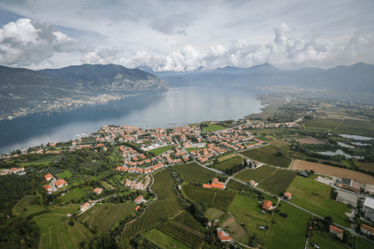 View over the lake Iseo