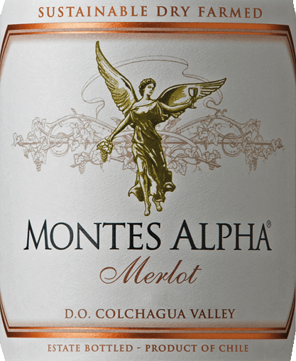 The Montes Alpha Merlot is a wonderful cuvée of Merlot (90%) and Carménère (10%). A deep, concentrated cherry-red colour shines in the glass. In the nose, aromas of ripe red and black berries (especially strawberries) fuse with juicy cherries. Fine floral notes harmonize perfectly with the spicy notes of oak maturity such as coffee, tobacco and vanilla. On the palate, this Chilean red wine is juicy and full-bodied with an aromatic plum fruit and notes of dark baked cocoa. Velvety soft ripened tannins give this red wine a gentle texture and a long, elegant and silky finish. Vinification of Montes Alpha Merlot The grapes grow in the vineyards of the highly acclaimed Finca de Apalta, located southwest of the capital Santiago de Chilein the Apalta Valley. The Apalta Valley has become one of the best - if not the best - red wines in Chile. After careful hand-picking of all grapes at optimum ripeness, they are brought into the wine cellar - complete destemming and mashing takes place. After alcoholic fermentation, this wine is still on the mash to concentrate the strong aromas, the wonderful color and the silky tannins from the berry skins. It is aged for 12 months in French oak barriques. Food recommendation for the Merlot Montes Alpha We recommend this dry red wine from Chile with pasta with wild mushrooms, corn spoularde, turkey roast from the oven with berry compote or chestnuts, game birds, lamb shoulder or beef stew with herbs or with dishes of oriental cuisine.