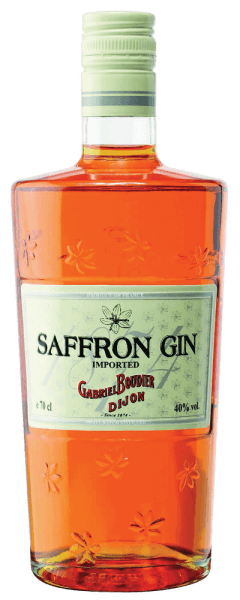 The saffron gin gets its special color through noble saffron threads. This French gin delights with the delicious aromas of juniper and fresh citrus fruits. On the palate, the notes of caramel, juniper and citrus and saffron unfold. This gin is perfect for premium gin tonics. Production of Gabriel Boudier Saffron Gin A total of 8 botanicals are used to make the saffron - saffron, juniper, iris, orange and lemon peel, angelica root, coriander and fennel.