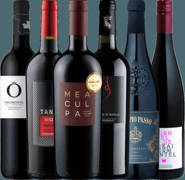 6er Winterpaket - halbtrockene Rotweine für die kalte Jahreszeit