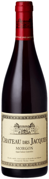 This 100%Gamay has a clear, cherry-red to red-violet colour. In the striking bouquet of the Morgon Château des Jacques by Louis Jadot, juicy ripened red fruits such as sour cherries, strawberries and raspberries, a hint of cassis blossom and fine, spicy notes of soil and forest soil can be smelled. The juicy red fruit of the bouquet is again distinguished by its expressive, soft and elegant taste. This is accompanied by an animating fresh acidity, which in combination with the gently ripened tannin gives the wine a round, beautiful and very harmonious fullness. It tastes delicious with savoury meat and poultry dishes, rabbits or medium-strength goat cheese.