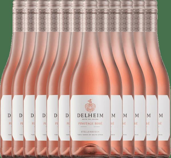 12er Vorteils-Weinpaket - Delheim Pinotage Rosé 2020 - Delheim