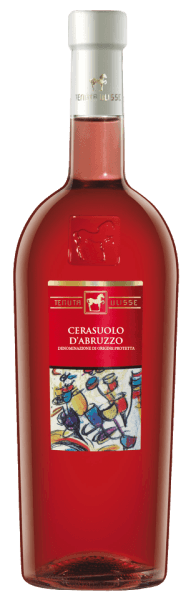 The ULISSE Cerasuolo d 'Abruzzo DOC by Tenuta Ulisse appears in the glass in a strong raspberry rose and flatters the nose with the juicy aromas of ripe raspberries and cherries. This bouquet is rounded off by gentle floral hints. This Italian rosé from Abruzzo starts on the palate with an animating, sweet prelude and repeats the delicious aromas of raspberries and cherries. In the long finish, this Montepulciano impresses with the spicy notes of herbs and a delicate hint of licorice. The Cerasuolo d 'Abruzzo seduces with its good structure and its full and velvety impression. Vinification for THE ULISSE Cerasuolo d 'Abruzzo DOC by Tenuta Ulisse The ULISSE line consists of grape varietal wines, which impressively prove what fantastic aromas and tastes arise when native grape varieties grow on the soil that is ideal for them. This rosé wine is 100% Montepulciano d´Abruzzo. The origin of this grape variety is still unclear, but it has always been cultivated in Abruzzo and in central and southern Italy. Thanks to the passion of some winemakers, the Montepulciano d 'Abruzzo grapes are today among the best red grapes. The selective hand-picking takes place in 10 kilogram containers, cooled by dry ice, the grapes reach the winery undamaged. There they are selected again to ensure an absolutely healthy reading. The grapes are cooled to -5°C by nitrogen within 3 minutes. This breaks down the cell structure and promotes extraction, which explains the intense, fascinating fresh-fruity aroma of this wine. The fermentation takes place temperature-controlled in stainless steel tanks with subsequent ageing in the same for a period of 3 months. Food recommendation for THE ULISSE Cerasuolo d 'Abruzzo DOC by Tenuta Ulisse Enjoy this dry rosé wine with grilled fish dishes, fish soup, light meat, sausage and pizza. Awards for THE ULISSE Cerasuolo d 'Abruzzo DOC by Tenuta Ulisse AWC Vienna: Silver (born 2016) Luca Maroni: 95 points (born 2016, 2015, 2014) Gambero Rosso: 2 glasses (vint