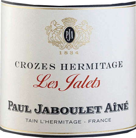 This pure Marsanne presents itself in a dense, glossy yellow. The bouquet of Crozes Hermitage Les Jalets Blanc from Domaine Paul Jaboulet Aîné is full of aromas of ripe apricots and fine spicy notes with a hint of honey.Lively, flowery and with a lot of soft fullness and beautiful balance, the palate reveals itself. In the finale it shines with great length, accompanied by toast and honey notes. A delicious drop with freshwater fish, such as pike-perch fillet fried in butter with fine vegetables, but also with rabbit pâté or mild goat cheese.