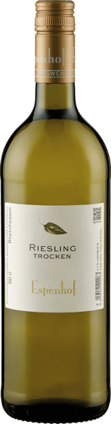 The Riesling from the Espenhof winery shines in the glass in a light yellow with green reflections and unfolds its typical grape variety bouquet with the aromas of peach, green apple and lime. These aromas are rounded off by a delicate spice and herbal notes. This white wine from Rheinhessen has a lot of substance and juiciness on the palate with a fine minerality. Vinification for Riesling from the Espenhof Winery The almost 20-year-old vines for this Riesling grow on a rocky southern slope on shellfish limestone in the location of Flonheimer BIngerberg. The grapes are selectively harvested, the fermentation and ageing take place 50% in the stainless steel tank and 50% with spontaneous fermentation partly in the large wood. This Riesling is then stored on the whole yeast until bottling. Food recommendation for the Riesling from the Espenhof Winery Enjoy this dry white wine with freshwater fish, asparagus or roast pork.