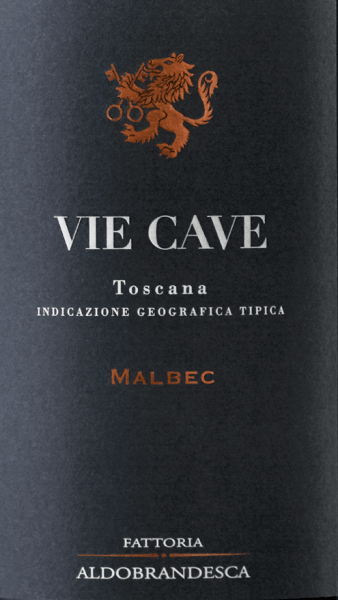 The Vie Cave Toscana IGT from Fattoria Aldebrandesca is presented in very intense ruby red in the glass. On the nose, a complex bouquet opens up with fragrances of ripe, dark fruits that alternate gently with spicy aromas, liquorice, coffee and soft vanilla notes. Silky, engaging and of beautiful balance and sustainability on the palate, in the long reverberation appear again hints of ripe, dark fruits, as well as coffee and liquorice. Vinification of the Vie Cave Toscana IGT by Fattoria Aldebrandesca This red wine is dedicated to the caves, ancient Etruscan passages carved in tufa stone, which can be found throughout Sovana as well as in the Fattoria Aldebrandesca and reveal a very old, branched network of paths. Malbec, a French grape variety that is still relatively new in Italy, has found an ideal terroir in the volcanic Maremma. The grapes of the vines newly cultivated here a few years ago are harvested optimally ripe at the end of September or the beginning of October. In the wine cellar, they are destemmed and gently pressed and then filled into stainless steel tanks. The first maceration phase takes place at low temperature for 3 to 4 days in order to extract the aromatic substances and the anthocyanins in the shells, then the must temperature is increased so that the yeasts can be added, the alcoholic fermentation takes place at 30 ° together with the continuous gentle maceration for one week in order to obtain the gentle tannins. After peeling, the wine is transferred to French oak barriques, where malolactic fermentation is carried out, followed by 10 months of ageing. The Vie Cave rests in the bottle for another 14 months before it comes on the market. Food recommendation for the Vie Cave Toscana IGT by Fattoria Aldebrandesca A fruity, soft red wine that goes very well with meat dishes, the barbecue party, pasta and rice with savoury ingredients. Awards for the Vie Cave Toscana IGT by Fattoria Aldebrandesca Wine Spectator: 92 points for 2012 Bibenda: 4 g
