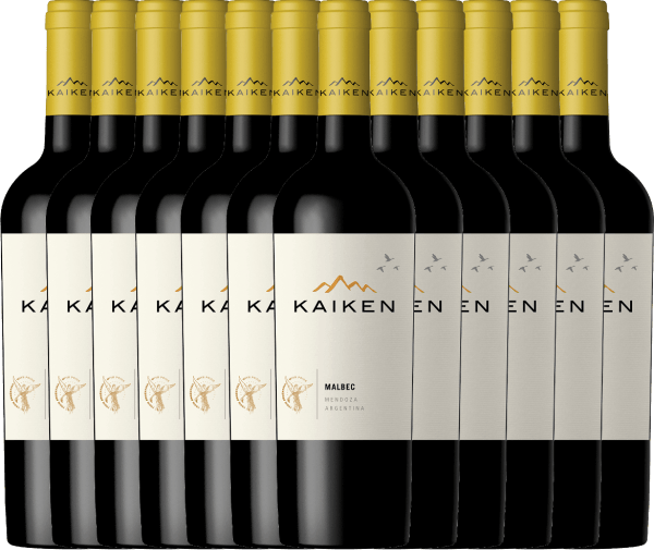 Kaiken Malbec is an aromatic red wine from Argentina, whose youthful elegance is based on an exceptional balance between fruit, velvety tannins and crisp fruit acid structure. You will now receive our Argentinian bestseller in a practical 12 pack. Find out more about this dry wine in the individual article ofKaiken Malbec.