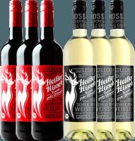 Preview: 6er Mixpaket - Bio-Glühwein rot & weiß - Heißer Hirsch