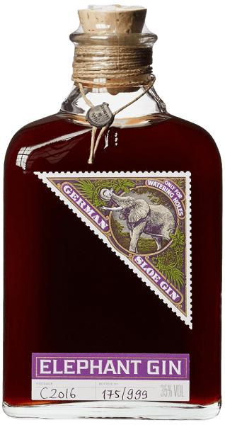 Elephant Sloe Gin by Elephant Gin combines two souls: the taste of Elephant London Dry Gin with the typical aromas of freshly harvested sloes. In the glass, this gin is of intense, dark red colour, naturally cloudy due to the tiny suspended matter and the flesh of the sloes. The bouquet is very round and fruity-sweet. On the palate, the taste unfolds mildly, fruity-spicy after slough, but not too sweet, supported by relatively high alcohol content. Production of Elephant Sloe Gin by Elephant Gin For this unusual fruity gin, only high-quality fresh fruits are used, harvested by hand and carefully selected. After the skin of the sloes has been carved with a knife, the fruits macerate in Elephant London Dry Gin. This triggers colours and aromas from the fruits and develops the mild-spicy bouquet with the typical Schlehenaroma. In order to achieve the balance between the sour and sweet aromas, only as much sugar as necessary is added in the end. No artificial flavourings are added. The Elephant Sloe gin is not filtered, many natural flavours are preserved and the gin gets its naturally cloudy character. The Elephant Sloe Gin is limited to 999 bottles per batch, production is subject to constant quality checks. The high quality, as well as the equipment, follow the well-known design of the Elephant Gins, with handwritten label, hand-turned cord, natural cork and lead seal. Serving recommendation for Elephant Sloe Gin by Elephant Gin Enjoy this fruity and spicy Sloe gin purely. Owing to its low sweetness and relatively high alcohol content, this gin is also well suited for cocktails.