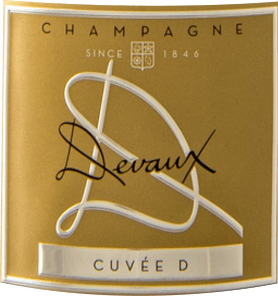 """The La Cuvée """"D"""" brood from the Champagne wine-growing region offers itself in the glass in brilliantly shimmering golden yellow. This wine also shows reflexes in the centre. The aroma of this champagne is determined by aromas of all kinds of red and black berries and dark fruits such as heart cherries and plums. Light-footed and complex, this balanced champagne is on the palate. Due to the balanced fruit acidity, the La Cuvée """"D"""" brood flatters with pleasant mouthfeel, without letting it miss freshness at the same time. The finale of this maturable sparkling wine from the Champagne wine-growing region finally convinces with beautiful reverberation. Vinification of the Champagne Devaux La Cuvée """"D"""" Brut The basis for the first-class and wonderfully elegant Cuvée La Cuvée """"D"""" brood from Champagne Devaux are Chardonnay and Pinot Noir grapes. After the grape harvest, the grapes reach the press house in the fastest way. Here you will be selected and carefully broken up. This is followed by fermentation in bottle fermentation at controlled temperatures. After completion of fermentation . The ageing in the barrel is followed by a comprehensive bottle maturity, which makes this champagne even more complex. Food recommendation for the La Cuvée """"D"""" brood from Champagne Devaux This French champagne should best be enjoyed chilled at 8 - 10°C. It is perfect as an accompaniment to spaghetti with yogurt mint pesto, wok vegetables with fish or spicy chestnut soup. Awards for the La Cuvée """"D"""" brood by Champagne Devaux This wine from Champagne inspires not only us, but also renowned wine critics have already awarded it medals. Among the reviews you will find Mundus Vini - Gold"""