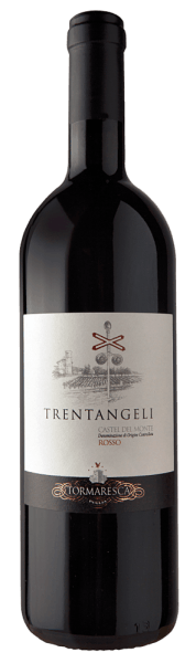 The Trentangeli Castel del Monte Rosso DOC by Tormaresca shines in the glass in an intense ruby red with violet shimmer. A fruity, complex bouquet unfolds on the nose with the aromas of cherries, blackberries and mulberries, complemented by spicy notes of pepper and liquorice. This red wine from Puglia is pleasant due to its warmth on the palate, it is rich with a great structure and taste sustainability. The ageing in barrique barrels gives this cuvée its enormous length and elegance, velvety tannins round off the taste experience. The finish is pleasant and long lasting. Vinification of Tormaresca Trentangeli Castel del MONTE DOC The grapes for this cuvée from Aglianico 70%, Cabernet Sauvignon 20% and Syrah 10% come from the vineyards of the Bocca di Lupo winery of Tormaresca, not far from Castel del Monte. The grapes are harvested at a very high degree of ripeness in order to produce a rich wine. After pressing, the must is fermented in stainless steel tanks in contact with the skins at 25 ° Celsius, whereby these are repeatedly gently mixed with the must in order to extract as many extracts as possible from the grapes. After subtracting from the peels, the wine is aged in French and Hungarian oak barriques, undergoing malolactic fermentation, followed by ageing for 12 months and a further 8 months in the bottle before being sold. This wine arose out of the desire to introduce wine enthusiasts to the ancient grape variety Aglianico and to demonstrate the enormous potential and complexity of this grape variety in a modern cuvée. The wine comes from a part of the winery, where today there is a railway crossing, once a place where the shepherds and their herds rested on their long seasonal hikes. According to legend, the passage of the shepherds was protected by thirty angels, which ultimately gave the wine the name Trentangeli. Food recommendation for the Tormaresca Trentangeli Castel del MONTE DOC Enjoy this elegant and powerful red wine from Castel del Monte with