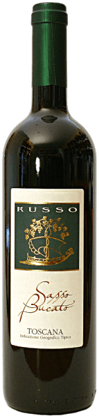 The Sasso Bucato IGTby Russo shines with a strong, velvety and crimson colour in the wine glass. The nose shows its extraordinary density of sweet dark fruits, herbs and minerals. The beautiful scent with the varietal accents of the grapes combines with the warmth of this Tuscan personality.The soft, elegant and full-bodied palate pampers with consistent, pronounced fruit notes and an outstanding endurance rather it flows into the long, after-sounding finish.We recommend it with grilled pork and beef steak.