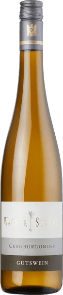 Grauburgunder trocken von Wagner-Stempel from the German wine region Siefersheim in Rheinhessen is a grape varietal, fine juicy and animating white wine, which is vinified exclusively from organically grown grapes. In the glass, this wine shines in a clear straw yellow with light green highlights. Fruity aromas of juicy pears, tropical fruits - especially papaya and melon - enchant the nose. In addition, there are nutty hints of almonds and fine forest flower honey. On the palate, this German white wine convinces with its mineral body. The combination of wonderful fruit fullness and fine, fresh acidity is in perfect balance. An invigorating and balanced white wine with a hint of fruit sweetness and a beautiful reverberation. Vinification of the Wagner stamp Pinot Gris After organic cultivation, the Pinot Gris grapes are cultivated and come from different locations of the Siefersheim vineyards. The soils consist mostly of sandy to rocky clay with porphyry weathering rock in the subsoil. The grapes are only picked by hand and already selected in the vineyards. Arriving in the wine cellar of Wagner-Stempel, the must is aged in stainless steel tanks. Both stainless steel tanks and traditional German oak barrels are used for the expansion. Food recommendation for the Grauburgunder Wagner stamp Enjoy this dry white wine from Germany with cod with mashed potatoes, crisp summer salad with grilled tuna or with young cheeses.