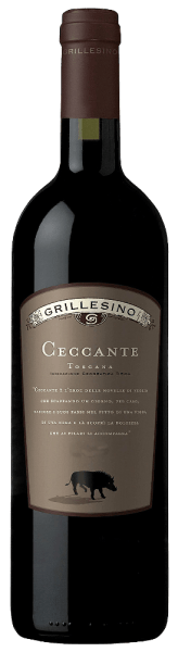 The Ceccante Toscana IGT by Azienda Il Grillesino shimmers in a dense, rich ruby red.The strong, multi-layered bouquet is reminiscent of fully ripe dark berries (cassis) and juicy cherries that reflect the full, complex character of this red wine. Aromas of dried plums and warm, beautifully integrated spice notes of liquorice and vanilla are accompanied.  On the finely structured and at the same time full-bodied palate, it reveals  tangible tannin and  a full taste of ripe fruit aromas and a lot of spice, which leads to a long, powerful finish.   Serve with strong meat dishes with dark sauces or chocolate desserts.This varietal Cabernet matured for 18 months in a barrique and then for another year in a bottle.