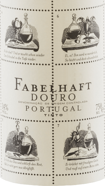 "The vivid ruby red Niepoort Fabelhaft Douro Tinto shows purple reflections and shimmers in the glass with medium density colour. The lively fragrant nose of this red wine cuvée from Touriga Franca, Touriga Nacional, Tinta Roriz, Tinta Amarela and other grape varieties convinces with fresh, deep and very intense aromas of wild berries, juicy blackberries and some plum. Sweet spices and spicy tea leaves blend harmoniously with the balsamic character of Fabelhaft Douro Tinto. On the palate, the Fabelhaft Tinto reveals an elegant, voluminous and youthfully fresh taste with a perceptible mineral profile. A beautiful, lively fruit acid and soft tannins complete the balanced palate feeling. In the Fabelhaft Tinto, not only the content but also the appearance of the red wine bottle is remarkable. For this, Dirk Niepoort chose a story by Wilhelm Busch, currently that of the raven Hans Huckebein. His life came to a bad end, not least through the consumption of alcohol, and has coined the term ""unlucky raven"" to this day. Fables like Huckebein's are the reason why Niepoort named this wine series Fabelhaft - and they taste like that! With Fabelhaft Tinto, Dirk Niepoort has proven that red wines full of character from Portugal are possible at a fair price. Not only that, with his Wilhelm Busch label he has also created a wine that is immediately recognizable. Vinification of the Fabelhaft Tinto The harvest starts at the beginning of September, when the grapes for the Fabelhaft Douro wines are harvested with a focus on freshness, acidity and fruit. Overripe grapes should be avoided for the Fabelhaft Douro Tinto. After selecting the grapes in the cellar, the grapes were destemmed, crushed and fermented. After the fermentation the wine matured to 15% for 12 months barriques of French oak (second allocation). Food recommendation for the Fabelhaft wine Tinto from Niepoort Enjoy this Portuguese red wine with pasta with spicy vegetable or meat sauces, with pizza and with beef or pork dishes. Awards and prizes for the Niepoort Fabelhaft Douro Tinto Falstaff: 91 points for 2017 Mundus Vini: Silver for 2016 Meiningers-Weinwelt: 88 points for 2016 Fachmagazin Weinwirtschaft: Red wine of the year 2009 2011 2015"