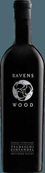 Der Teldeschi Zinfandel von Ravenswood ist eine hervorragende, amerikanische Rotwein-Cuvée aus den Rebsorten Zinfandel (80%), Carignan (12%) und Petite Sirah (8%). Bei diesem Wein schimmert ein sehr tiefdunkles Purpurrot mit dunkelroten Glanzlichtern im Glas. Kraftvolle Aromen nach saftigen Schwarzkirschen, reife dunkle Beeren (Brombeere und Heidelbeere) und etwas Kirschlikör verwöhnen die Nase. Dazu gesellen sich noch Noten nach Karamell, Kaffee und etwas Backkakao. Auch am Gaumen präsentiert sich die süße Fruchtaromatik der Nase mit dezenten Noten nach Rauch und Vanille. Die Tannine sind spürbar dicht und doch samtweich gereift. Die schöne Säure harmoniert wundervoll mit der angenehm dezenten Süße. Das Finale ist sehr lebhaft und von schöner Länge mit fruchtigen Nachhall. Vinifikation des Ravenswood Zinfandel Teldeschi Die Trauben des Teldeschi Zinfandel stammen von der Einzellage Teldeschi im Dry Creek Valley in Sonoma County. Die Kombination von Zinfandel, Petite Sirah und Carignan ist dort ein klassischer Blend für ältere Rebpflanzungen. Von Hand werden alle Trauben für diesen amerikanischen Rotwein gelesen und umgehend in den Weinkeller von Ravenswood gebracht. Das Lesegut wird zunächst eingemaischt und anschließend in offenen Fermentern vergoren. Nach abgeschlossenem Gärprozess verbleibt dieser Wein noch für 10 bis 15 Tage auf der Maische, bevor dieser vorsichtig abgezogen wird. Danach reift dieser Rotwein für 19 Monate in Fässern aus französischer Eiche (30% neues Holz). Abschließend ruht dieser Wein noch auf der Flasche, bevor dieser das Weingut Ravenswood verlässt. Speiseempfehlung für den Zinfandel Ravenswood Single Vineyard Teldeschi Genießen Sie diesen trockenen Rotwein aus den USA zu geschmorter Lammkeule, gebratener Entenbrust mit Preiselbeersauce, ofenfrischem Rinderbraten mit herzhaften Beilagen oder auch zu gereiften Hartkäse. Auszeichnungen für den Teldeschi Zinfandel Ravenswood Wine & Spirits Magazin: 95 Punkte für 2014