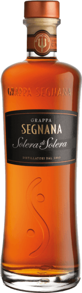 The Grappa Solera di Solera from Segnana is a cuvée of various fine grape marc from Trentino, which, after gentle distillation, acquires its amber colour by storage in oak barrels. Due to its fine vanilla aroma, it goes perfectly with a good cigar or fine chocolate.