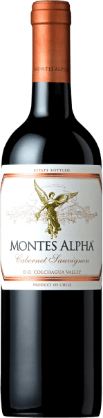 The Montes Alpha Cabernet Sauvignon is a wonderful red wine cuvée of Cabernet Sauvignon (90%) and Merlot (10%). In the glass this Chilean red wine delights with a strong ruby red color.The elegant, complex and intense bouquet unfolds strong aromas of violets and red fruits - especially heart cherries - as well as notes of blackberry, chocolate and black pepper with a hint of cigar box. Vanilla, caramel and coffee notes of the oak maturity complete the aromas of the nose. On the palate, this fine and excellent red wine from Chile convinces with a wonderful balance, a great structure, a medium body and firm and round tannins. This red wine closes with a long and persistent reverberation. Vinification of Cabernet Sauvignon Montes Alpha Magnum Both the Cabernet Sauvignon and the Merlot grapes are harvested by hand at optimum ripeness. After complete destemming, the grapes are separated from each other and fermented. Alcoholic fermentation is followed by an extended mashing life. This gives this red wine its strong aromas, intense color and wonderful tannins. The ageing for this red wine takes place for 12 months in French oak barriques. Only when bottling is the Montes Alpha Cabernet Sauvignon harmoniously rounded off with the 10% Merlot content. Food recommendation for the Magnum Montes Alpha Cabernet Sauvignon This dry red wine from Chile is an ideal accompaniment to pasta with Bolognese sauce, red meat, roasted veal chops with Cabernet sauce, pork ribs, Mongolian beef and dark chocolate.
