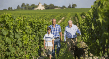 Three generations of the Vigouroux family